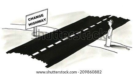 Change Highway - stock photo