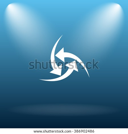 Change icon. Internet button on blue background.   - stock photo