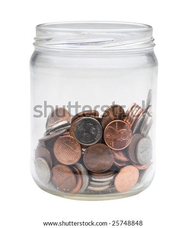change jar - stock photo