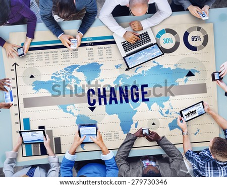 Change New Opportunity Process Revolution Concept - stock photo