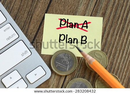 change of plans, concept of decision making - stock photo