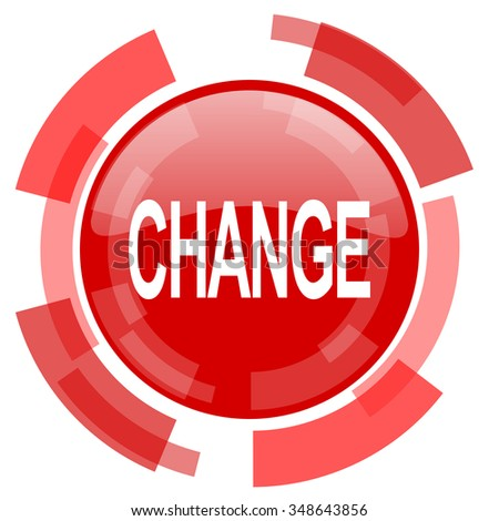 change red glossy web icon