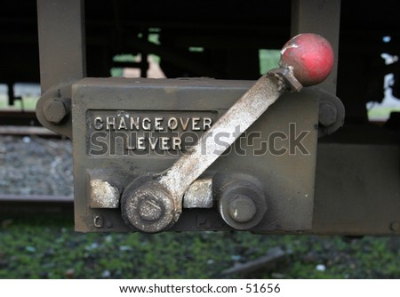 Changeover Lever - stock photo