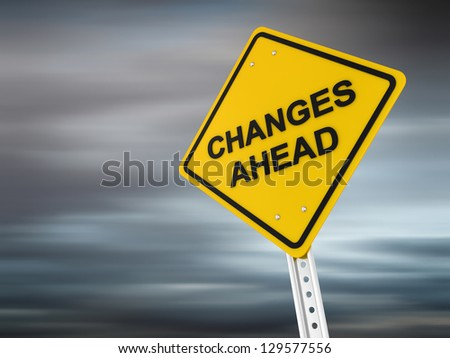 Changes ahead , computer generated image. 3d render. - stock photo