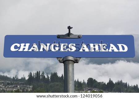 Changes ahead road sign - stock photo