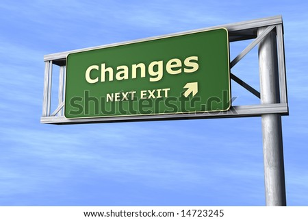 Changes - Next exit - stock photo