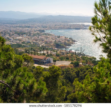 Chania. View from Mt. - stock photo