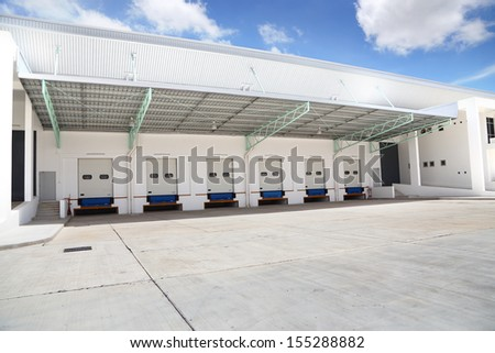 Channel for the transport of goods to and from the Warehouse - stock photo