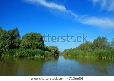 channel in the danube delta
