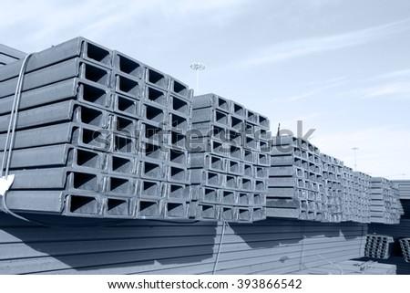 Channel steel - stock photo