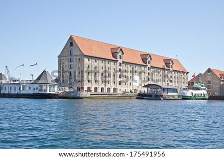 Channels are in city Copenhagen - stock photo