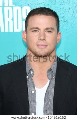Channing Tatum at the 2012 MTV Movie Awards Arrivals, Gibson Amphitheater, Universal City, CA 06-03-12 - stock photo