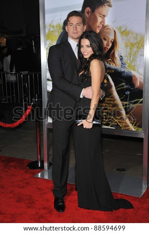 "Channing Tatum & wife Jenna Dewan at the world premiere of his new movie ""Dear John"" at Grauman's Chinese Theatre, Hollywood. February 1, 2010  Los Angeles, CA Picture: Paul Smith / Featureflash - stock photo"