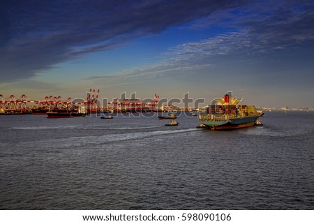Chaoyang shines on the port of Shanghai