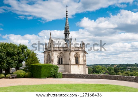 Chapel at Chateau d'Amboise Loire Valley, France - stock photo