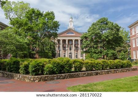 CHAPEL HILL, NC, USA - MAY 19: South Building, built in 1814, at the University of North Carolina at Chapel Hill in Chapel Hill, North Carolina, on May 19, 2015 in Chapel Hill, NC, USA. - stock photo