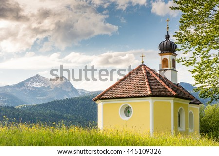 Chapel in the alps of Bavaria.