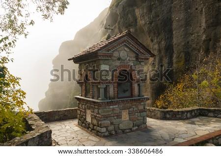 Chapel , Meteora, Greece - stock photo