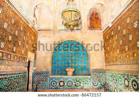 Chapel of Iglesia San Bartolome, Cordoba, Spain - stock photo