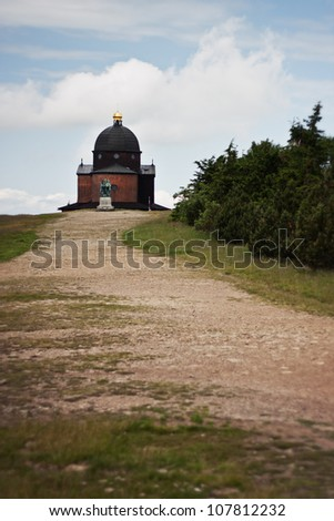 Chapel of St. Cyril and Methodius, Beskydy mountains, Czech republic - stock photo