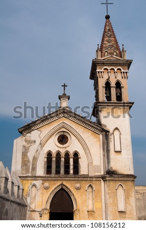 Chapel of the Carmen, Cathedral of Cuernavaca (Mexico) - stock photo