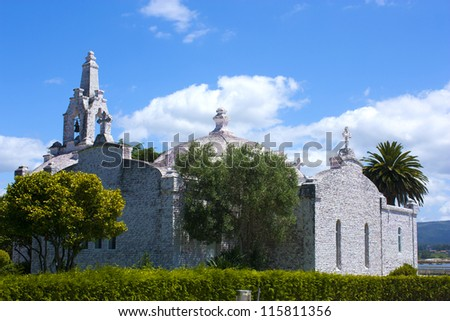 Chapel of the shells on the island of La Toja, Galicia, Spain