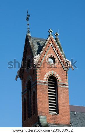 chapel tower - stock photo
