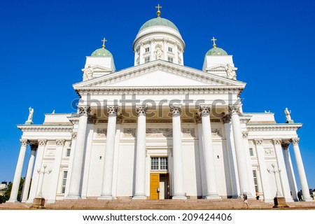 Chapeles of the Helsinki Cathedral, the Finnish Evangelical Lutheran cathedral of the Diocese of Helsinki, Helsinki, Finland. - stock photo