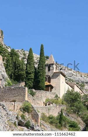 chapelle notre dame de beauvoir - Moustiers sainte marie - le verdon - france - stock photo