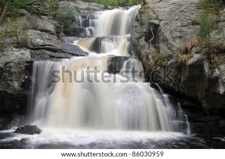Chapman Falls in Devil's Hopyard State Park in East Haddam, Connecticut - stock photo