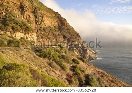 Chapman's Peak Drive, Cape Peninsula, South Africa - stock photo