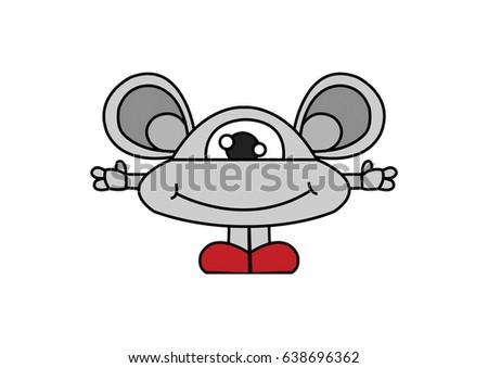 Character Design Monster Stock Illustration 638696362 Shutterstock