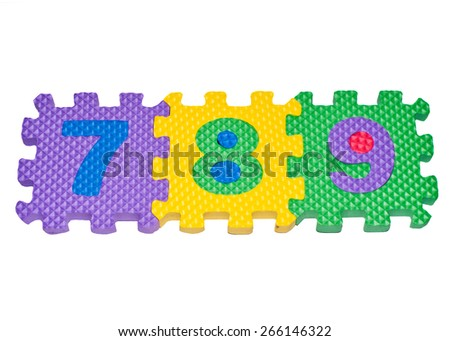 """character""""789""""made from rubber - stock photo"""