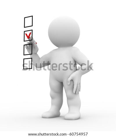 character marking checklist - stock photo