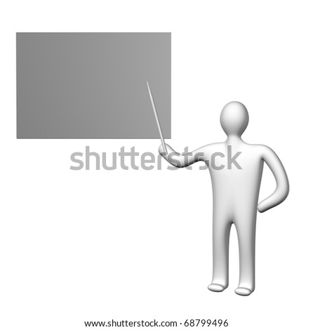 character on the white background
