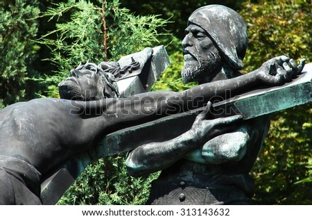 characters Stations of the Cross - stock photo