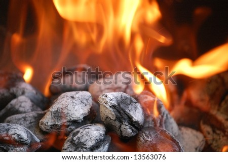 Charcoal Fire - stock photo