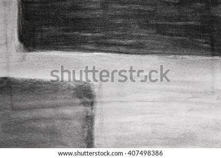 Charcoal painting - stock photo