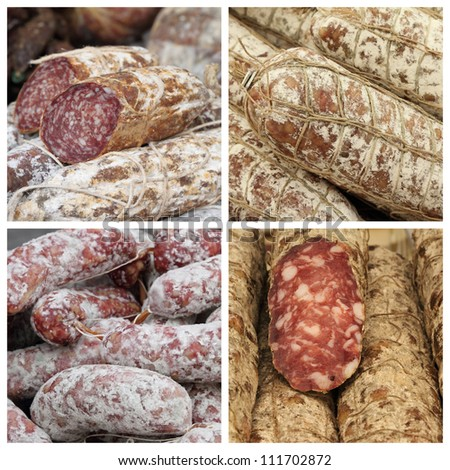 charcuterie mix, Italy - stock photo