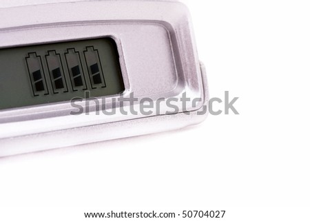 charge indicator on a white background - stock photo