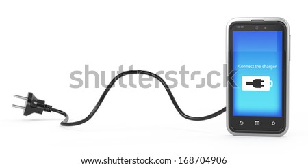 charging the phone concept - stock photo