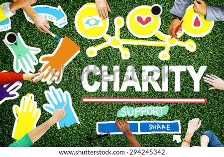 Charity Donation Give Help Support Concept - stock photo