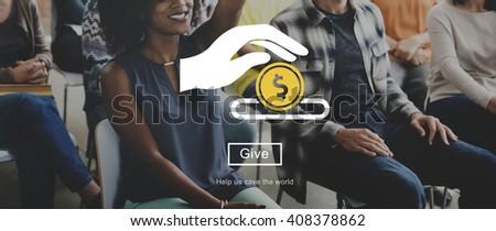 Charity Donation Volunteer Concept - stock photo