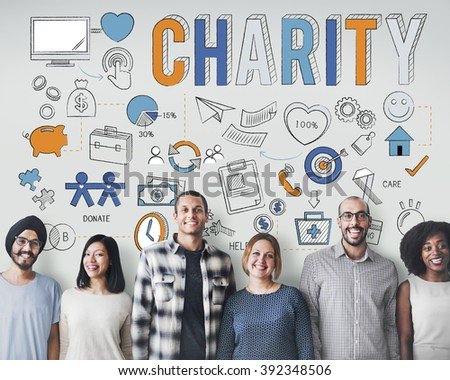Charity Help Give Care Hope Donate Concept - stock photo