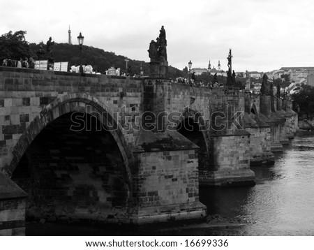 Charles bridge, Prague, Czech rep. - stock photo