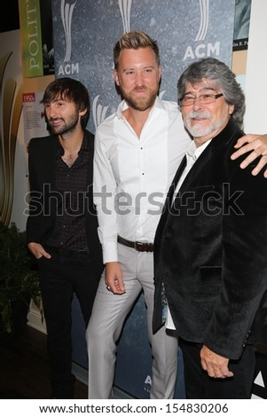 Charles Kelley, Dave Haywood and Randy Owen at the 7th Annual ACM Honors, Ryman Auditorium, Nashville, TN 09-10-13