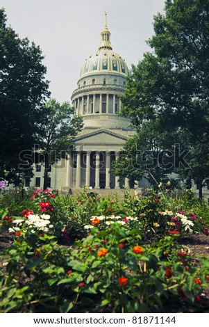 Charleston, West Virginia - State Capitol Building - stock photo