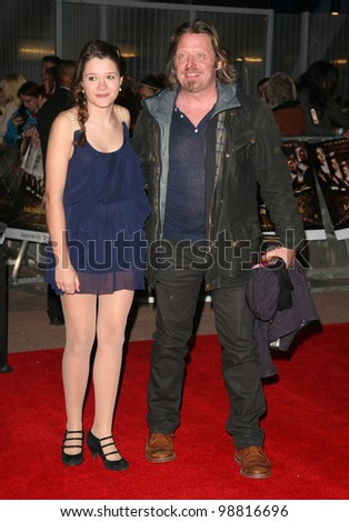 Charley Boorman and daughter arriving at the European Premiere of 'The Hunger Games' at the O2 Arena, London. 14/03/2012 Picture by: Alexandra Glen / Featureflash - stock photo