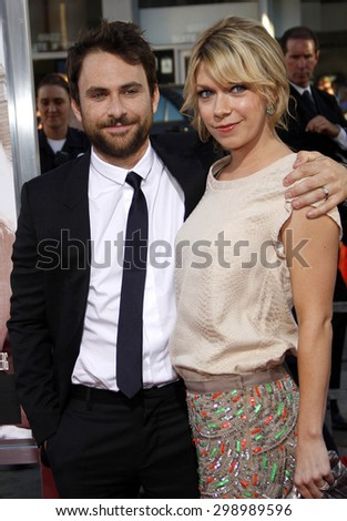 Charlie Day and Mary Elizabeth Ellis at the Los Angeles premiere of 'Going The Distance' held at the Grauman's Chinese Theater in Hollywood on August 23, 2010.   - stock photo