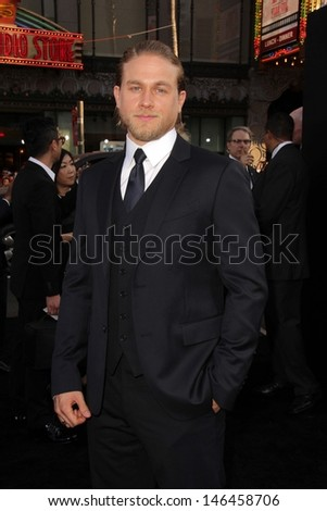"Charlie Hunnam at the ""Pacific Rim"" Los Angeles Premiere, Dolby Theater, Hollywood, CA 07-09-13 - stock photo"